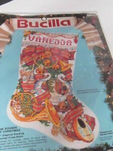 BUCILLA EMBROIDERY CROSS STITCH SOUND OF CHRISTMAS STOCKING KIT NIB! 82916