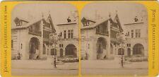 Hotel Renaissance Exposition Universelle de Paris 1889 Stereo Vintage albumine