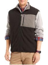 IZOD Mens Polar Fleece Vest Black & Gray Size Medium Fall Winter Men's Wear NEW