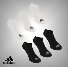 3 Pack Unisex Genuine Adidas Lightweight Durable No Show Socks Size 5.5-14