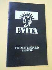 October 1970 - The Prince Edward Theatre Program - Evita - Elaine Paige