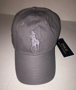 Polo Ralph Lauren Grey Grey Big Pony 3 Hat Cap