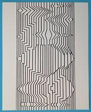 Victor VASARELY IV Offset Originale 1973 Op Art Optique Cinétique