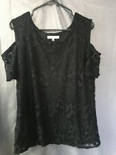 Womens Ladies Black Lace Peacocks Lace Evening Occasion Wear Casual Work Size 16