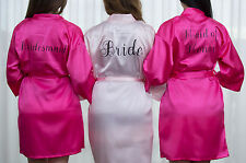 PERSONALIZED BRIDAL PARTY Women's SILK Kimono Robes Bathrobe BRIDE, BRIDESMAID