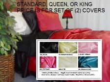 Satin Pillow Cases KING Set of (2)