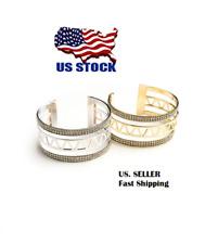 Women Ladies Fashion Jewelry Bracelets Elegant Multi Stone Layer Cuff Bracelet