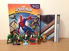 Spiderman My Busy Book + 12 Character Figurines & Playmat - Cake Toppers