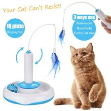 Electric Rotary Turntable Feather Accessories Pet Cat Interaction Toy Best Gifts