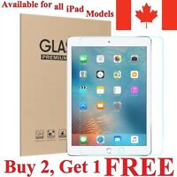 Premium Clear Tempered Glass Screen Protector for Apple iPad [For All Models]
