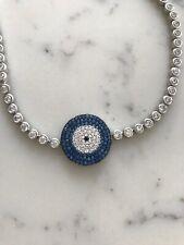 925 sterling silver Evil Eye Bracelet With Cz