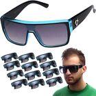 12 PAIR Biohazard Black Blue Goggle Style Mens Sunglasses Wholesale Glasses Lot