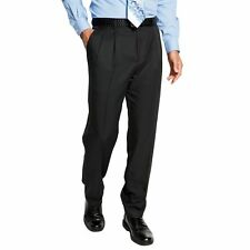 Croft Barrow Mens Dress Pants Classic Fit Pleated Microfiber size 36 40 NEW