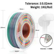 Rainbow PLA Filament 1.75MM 1KG Dimension Accuracy +-0.02mm 3D Printer Material