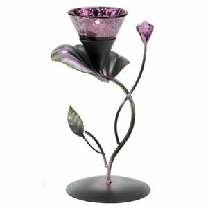 Lilac Lily Pad Tealight Candle Holder