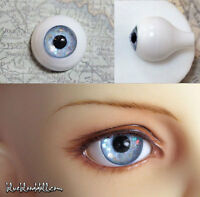 14mm acrylic bjd doll eyes glitter light blue full eyeball dollfie AE-43 ship US