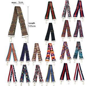 Nylon Replacement Shoulder Canvas Metal Hook Adjustable Strap Messenger Bag Belt