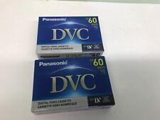 2 Sealed Panasonic 60/90min Mini DV Digital Video Cassette DVC Tape-AY-DVM60EJ