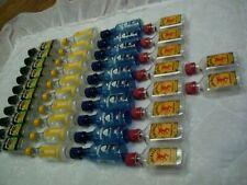 40 Plastic Mini Bottles/50 ML/Empty/New Amsterdam/Jim Beam/Fireball/Pinnacle