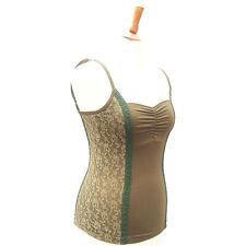 Party No Pattern Cotton Strappy, Spaghetti Strap Women's Tops & Shirts
