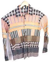 Vintage Van Heusen Mens Barracuta Disco Boogie Nights Mod Shirt Multicolor XL