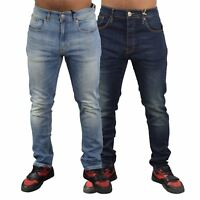 New Mens Firetrap Jeans Cotton Skinny Fit Denim Casual Trousers Pants