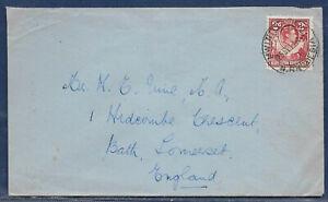 Northern Rhodesia 1941 sg 32 2d carmine-red PM MWINILUNGA 25 Sep 41