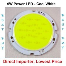 9W High power Bright 9 Watt COB LED SMD Diode Bulb Round Cool White Brand new
