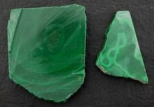 58.5 Grams African Malachite Slice Slab Cab Cabochon Gemstone Gem Rough  EBS3906