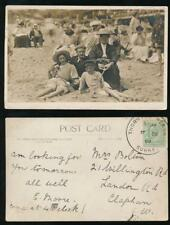 GB 1909 THORNTON HEATH SURREY LARGE CIRCLE..SEASIDE RP PPC FAMILY SIGNED MOORE