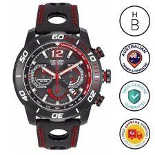 New Citizen Eco-Drive Primo Stingray 620 Mens Watch Black Red Chrono CA4085-08E
