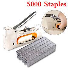 HEAVY DUTY STAPLE GUN TACKER UPHOLSTERY STAPLER + 5000 Nails Fastener Tool Kit