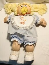 "Cabbage Patch Kids Doll 1982 Blonde Pigtails 15"" W/ Pacifier"