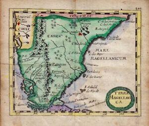 1681 Duval/Hoffman Map of Magellanica, South America