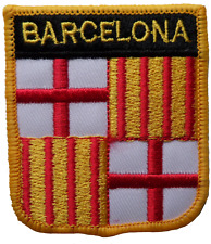Barcelona Spain Shield Embroidered Patch