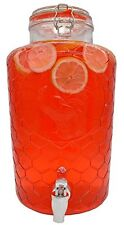 Palais Glassware Clear Glass Beverage Dispenser with Lid - 2 Gallon (Rooster)
