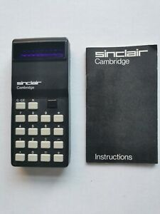 SINCLAIR VINTAGE CALCULATOR - Cambridge 1974 - Very Good Condition - Not Working