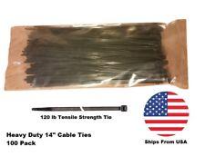 Heavy Duty 14 inch Cable Ties (120 lb) 100 Pack Zip Ties Tie Wraps