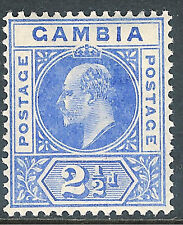 Gambia 1902 ultramarine 2.5d crown CA very fine mint SG48