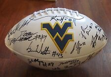 2014 WEST VIRGINIA MOUNTAINEERS TEAM SIGNED LOGO FOOTBALL W/COA KEVIN WHITE +40