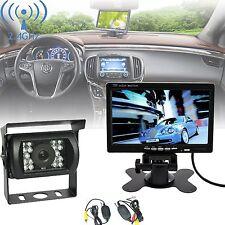 "Funk Auto Rückfahrkamera 4 IR LED Nachtsicht+Nummernschild +7"" KFZ 1080P Monitor"