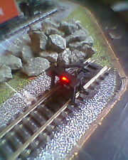HORNBY 00 MODEL RAILWAY TRACK BUFFER STOP DCC WITH 12 VOLTS WIRELESS RED LED