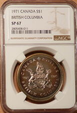 1971 Canada Dollar, NGC graded SP67, Brilliant, Lustrous w/ Blues/Greens/Golds