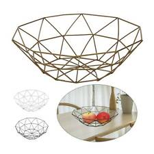 Iron Art Wire Fruit Bowl Bread Basket Storage Dish Dining Table Home Décor