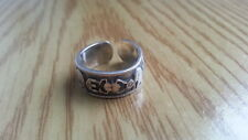 Sterling Silver *Size 6.5 *37X Beautiful Big Engraved Toe Ring 925
