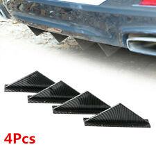 Carbon Fiber Look Car Rear Bumper Lip Diffuser Shark Fin Spoiler Wing Splitter