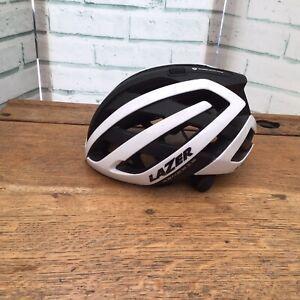 USED Lazer Genesis Helmet (52-56) Matt Black & White Gloss