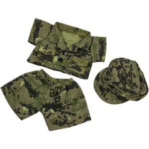 8-10 inch Khaki Camo Combat Fatigues & Cap - teddy bear stuffed animal clothes
