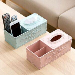 Tissue And Remote Control Box Storage Holder Cosmetic Napkin Container Organizer