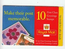 Gb 1998 Greetings Booklet Flowers With 12 Labels And 10 x 1st Class
